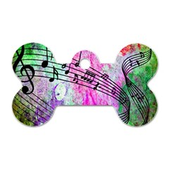 Abstract Music 2 Dog Tag Bone (two Sides) by ImpressiveMoments
