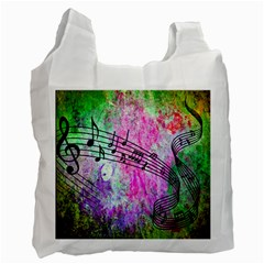 Abstract Music 2 Recycle Bag (one Side)