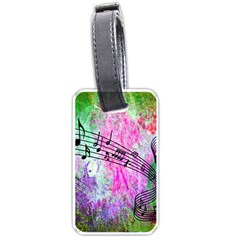 Abstract Music 2 Luggage Tags (one Side)
