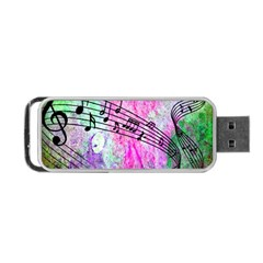 Abstract Music 2 Portable Usb Flash (one Side)
