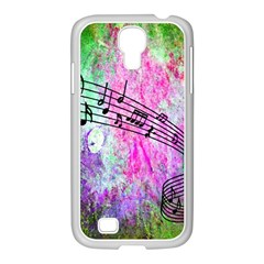 Abstract Music 2 Samsung Galaxy S4 I9500/ I9505 Case (white) by ImpressiveMoments