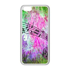 Abstract Music 2 Apple Iphone 5c Seamless Case (white) by ImpressiveMoments