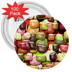 Stones 001 3  Buttons (100 Pack)