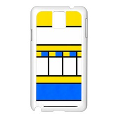 Shapes In Retro Colors Samsung Galaxy Note 3 N9005 Case (white) by LalyLauraFLM
