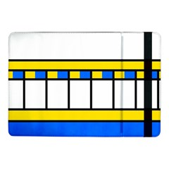 Stripes And Squares	samsung Galaxy Tab Pro 10 1  Flip Case by LalyLauraFLM