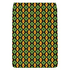 Green Yellow Rhombus Pattern Removable Flap Cover (l) by LalyLauraFLM