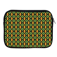Green Yellow Rhombus Pattern Apple Ipad 2/3/4 Zipper Case by LalyLauraFLM