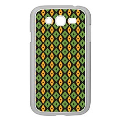 Green Yellow Rhombus Pattern Samsung Galaxy Grand Duos I9082 Case (white) by LalyLauraFLM