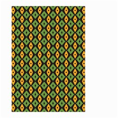 Green Yellow Rhombus Pattern Small Garden Flag by LalyLauraFLM