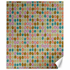 Retro Dots Pattern Canvas 8  X 10  by LalyLauraFLM