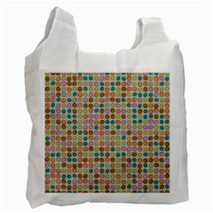 Retro Dots Pattern Recycle Bag (two Side) by LalyLauraFLM