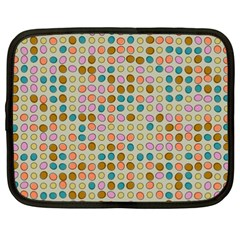 Retro Dots Pattern Netbook Case (xxl) by LalyLauraFLM