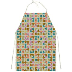Retro Dots Pattern Full Print Apron by LalyLauraFLM