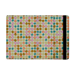 Retro Dots Pattern Apple Ipad Mini Flip Case by LalyLauraFLM