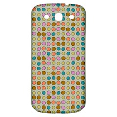 Retro Dots Pattern Samsung Galaxy S3 S Iii Classic Hardshell Back Case by LalyLauraFLM