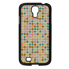 Retro Dots Pattern Samsung Galaxy S4 I9500/ I9505 Case (black) by LalyLauraFLM