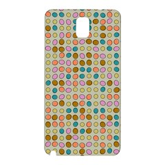 Retro Dots Pattern Samsung Galaxy Note 3 N9005 Hardshell Back Case by LalyLauraFLM