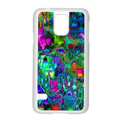 Inked Spot Fractal Art Samsung Galaxy S5 Case (white) by TheWowFactor