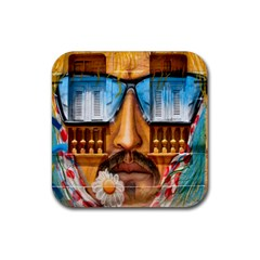 Graffiti Sunglass Art Rubber Square Coaster (4 Pack)  by TheWowFactor