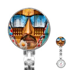 Graffiti Sunglass Art Stainless Steel Nurses Watches by TheWowFactor