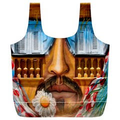 Graffiti Sunglass Art Full Print Recycle Bags (l)  by TheWowFactor