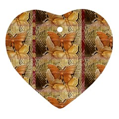 Butterflies Heart Ornament (2 Sides) by TheWowFactor