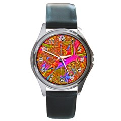 Biology 101 Abstract Round Metal Watches by TheWowFactor