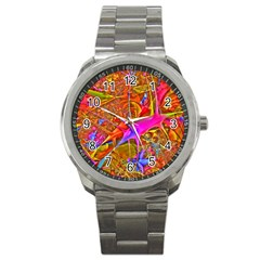 Biology 101 Abstract Sport Metal Watches by TheWowFactor