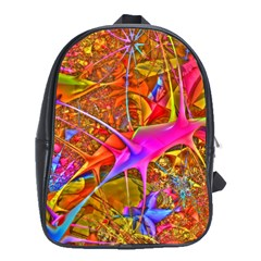 Biology 101 Abstract School Bags(large)  by TheWowFactor