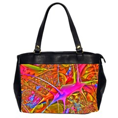 Biology 101 Abstract Office Handbags (2 Sides)  by TheWowFactor