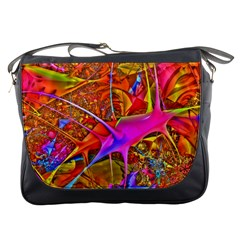 Biology 101 Abstract Messenger Bags by TheWowFactor