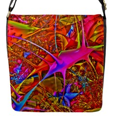 Biology 101 Abstract Flap Messenger Bag (s) by TheWowFactor