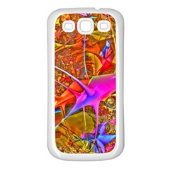 Biology 101 Abstract Samsung Galaxy S3 Back Case (white) by TheWowFactor