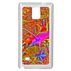 Biology 101 Abstract Samsung Galaxy Note 4 Case (white) by TheWowFactor