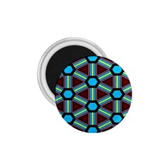 Stripes And Hexagon Pattern 1 75  Magnet by LalyLauraFLM