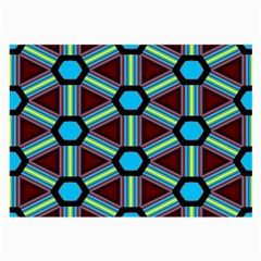 Stripes And Hexagon Pattern Large Glasses Cloth by LalyLauraFLM
