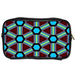 Stripes And Hexagon Pattern Toiletries Bag (two Sides) by LalyLauraFLM
