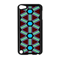 Stripes And Hexagon Pattern Apple Ipod Touch 5 Case (black) by LalyLauraFLM