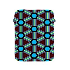 Stripes And Hexagon Pattern Apple Ipad 2/3/4 Protective Soft Case by LalyLauraFLM