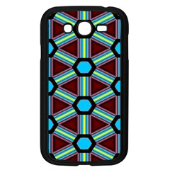 Stripes And Hexagon Pattern Samsung Galaxy Grand Duos I9082 Case (black) by LalyLauraFLM