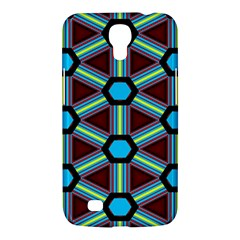 Stripes And Hexagon Pattern Samsung Galaxy Mega 6 3  I9200 Hardshell Case by LalyLauraFLM