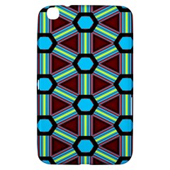 Stripes And Hexagon Pattern Samsung Galaxy Tab 3 (8 ) T3100 Hardshell Case  by LalyLauraFLM