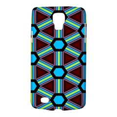 Stripes And Hexagon Pattern Samsung Galaxy S4 Active (i9295) Hardshell Case by LalyLauraFLM