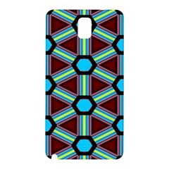 Stripes And Hexagon Pattern Samsung Galaxy Note 3 N9005 Hardshell Back Case by LalyLauraFLM