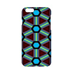 Stripes And Hexagon Pattern Apple Iphone 6 Hardshell Case by LalyLauraFLM