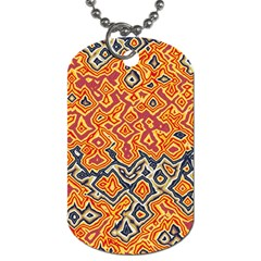 Red Blue Yellow Chaos Dog Tag (two Sides) by LalyLauraFLM