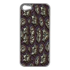 3d Plastic Shapes Apple Iphone 5 Case (silver) by LalyLauraFLM