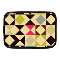 Rhombus And Triangles Pattern Netbook Case (medium) by LalyLauraFLM