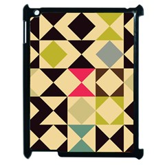 Rhombus And Triangles Pattern Apple Ipad 2 Case (black) by LalyLauraFLM