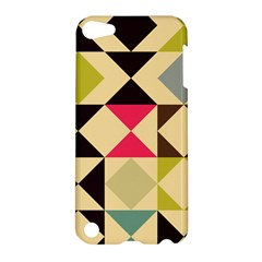 Rhombus And Triangles Pattern Apple Ipod Touch 5 Hardshell Case by LalyLauraFLM